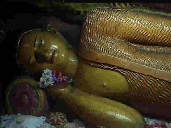 Reclining Buddha, believed to be from the Mihintale rock shrine