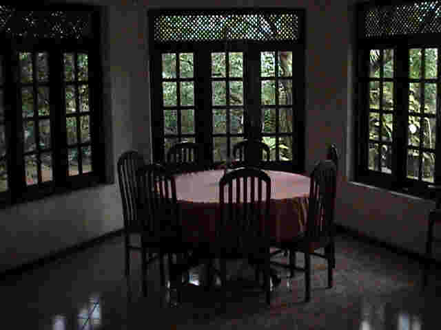 restaurant at Breetas Place on the Kandy road